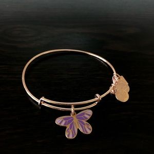 Alex and Ani Butterfly Bracelet in Rose Gold